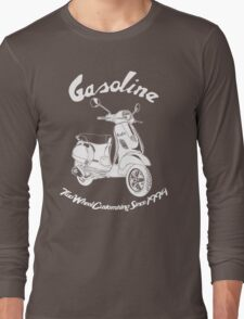 Gasoline Modern Scooter Illustration Long Sleeve T-Shirt