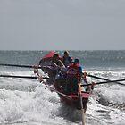 Surfboat racing at Piha by pommieken