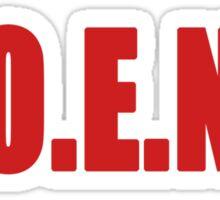 U.O.E.N.O Tee in red Sticker