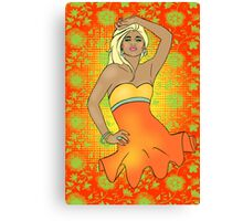 Summer Pinup Cartoon Canvas Print