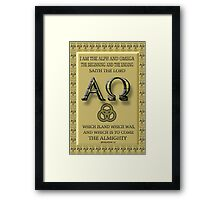 ALPHA AND OMEGA (BIBLICAL) Framed Print