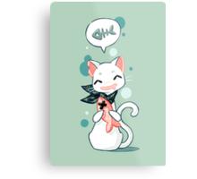 Cat and Fish 2 Metal Print