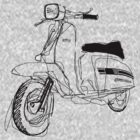 LAMBRETTA CUSTOM LINE ART DRAWING FOR GP200 by GASOLINE DESIGN