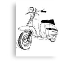 LAMBRETTA CUSTOM LINE ART DRAWING FOR GP200 Canvas Print