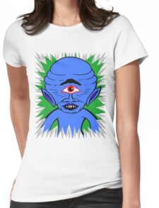 Space Cyclops Womens Fitted T-Shirt