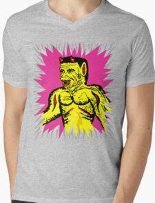 Yellow Devil Mens V-Neck T-Shirt