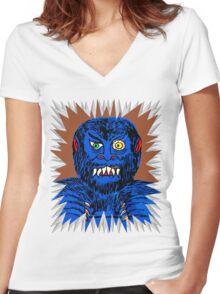 Wolfie Women's Fitted V-Neck T-Shirt