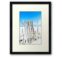 Salt Lake Fenceline I Framed Print