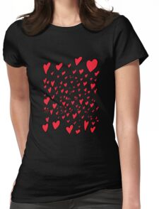 Flying hearts Womens Fitted T-Shirt