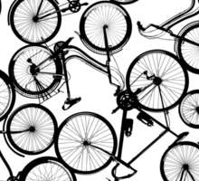 Pile of Black Bicycles Sticker