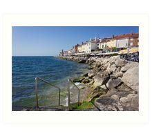 A Day On the Slovenian Coast Art Print