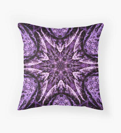 Winter Tree Fractal Throw Pillow