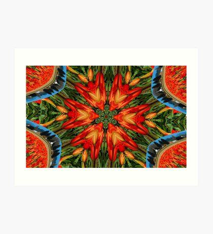 Tulip Fractal Art Print