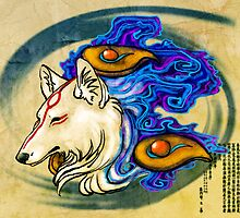 Ōkami Amaterasu Sticker by padmabhujaga