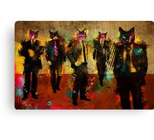 Cats in Suits Canvas Print