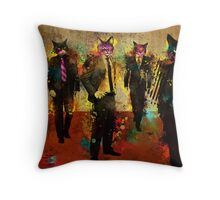 Cats in Suits Throw Pillow