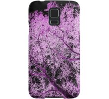 Pink and black london tree in winter Samsung Galaxy Case/Skin