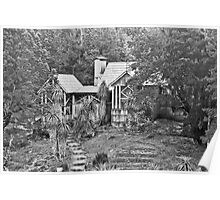 Waldheim Chalet in Black and White Poster