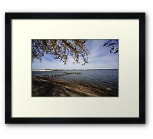 Shadowing the lake Framed Print