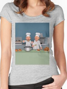 Too Many Cooks 4 - The Taste Test Women's Fitted Scoop T-Shirt