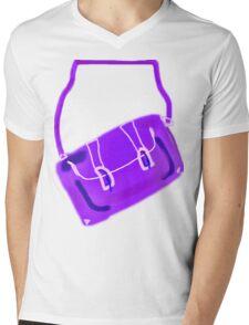 SATCHEL MAUVE/PURPLE  TEE/BABY GROW/STICKER Mens V-Neck T-Shirt