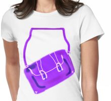SATCHEL MAUVE/PURPLE  TEE/BABY GROW/STICKER Womens Fitted T-Shirt