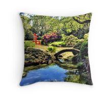 Japanese tea garden, Bontanical Gardens, Brooklyn, New York Throw Pillow