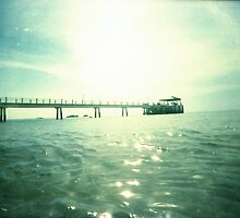 Jetty At The Glistening Sea - Lomo by chylng