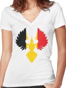 Belgium Phoenix Women's Fitted V-Neck T-Shirt