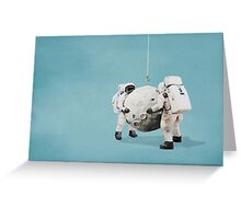 Hanging the moon Greeting Card