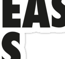 Beast As Bro (Black) Sticker
