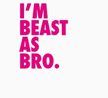 Beast As Bro (Pink) Womens Fitted T-Shirt