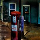 Old Mobil Gas Pump by Carla Jensen