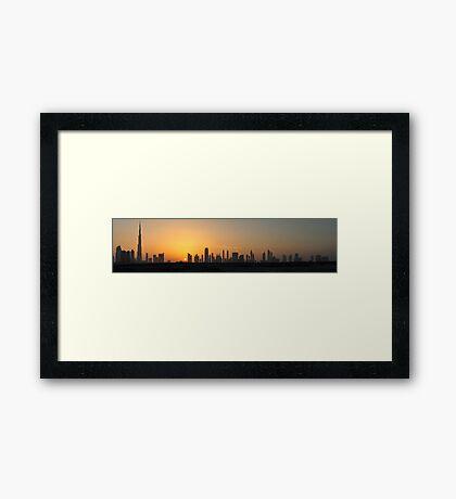 Sheikh Zyed Road at Sunset Framed Print