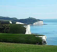 Seven Sisters Cliffs, East Sussex by Ludwig Wagner