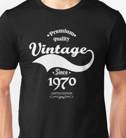 Premium Quality Vintage Since 1970 Limited Edition Unisex T-Shirt