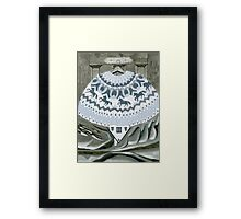 Sweater with Horses Framed Print