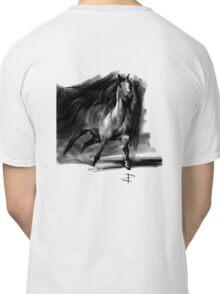 Equine T' Shirt 1 - Running Horse - Black print Classic T-Shirt