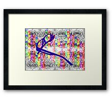 Photoshop Glasses Framed Print