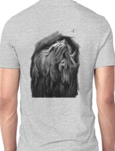 Equine T' Shirt 3 - Grazing Horse - Black print Unisex T-Shirt