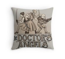 The Doctor's Angels Throw Pillow
