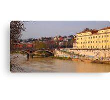 Rome, Tiber Island Canvas Print