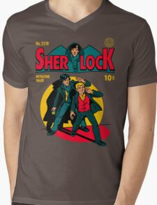 Sherlock Comic Mens V-Neck T-Shirt