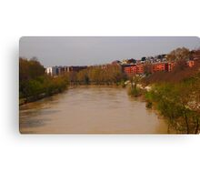 Bend of the River Tiber in central Rome Canvas Print