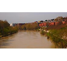 Bend of the River Tiber in central Rome Photographic Print