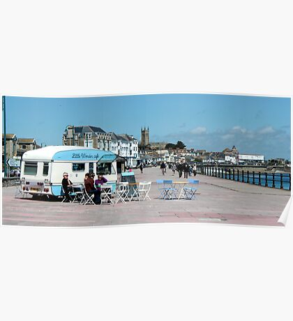 Penzance - The Sea Wall & Cafe Poster