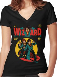 Wizard Comic Women's Fitted V-Neck T-Shirt