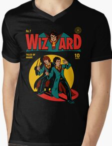 Wizard Comic Mens V-Neck T-Shirt
