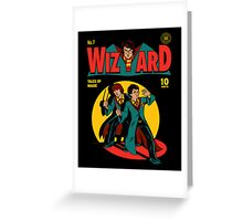Wizard Comic Greeting Card