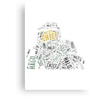 Master Chief Wordart Canvas Print